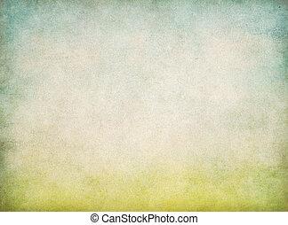 Antecedentes de papel vintage abstractos con hierba verde y cielo azul