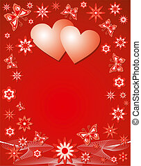 Antecedentes de San Valentín, ilustración vectorial.