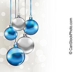 Antecedentes de vacaciones con bolas de Navidad
