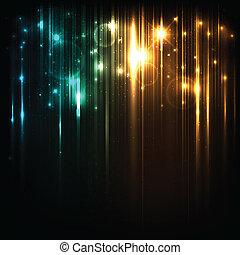 Antecedentes de vectores con luces y estrellas brillantes