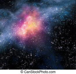 Antecedentes estrellados del espacio exterior