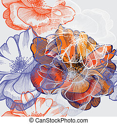 Antecedentes florales abstractos
