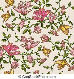 Antecedentes florales antiguos en vector