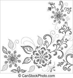 Antecedentes florales, contornos