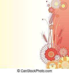 Antecedentes florales en rojo
