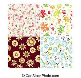 Antecedentes florales sin costura