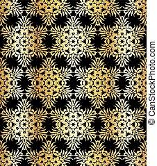 Antecedentes impecables con un patrón floral antiguo.