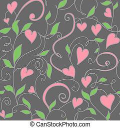 Antecedentes inmaculados con adornos de corazones