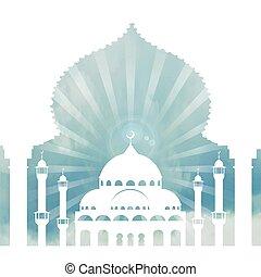 Antecedentes islámicos, arca, cielo, nubes. Día