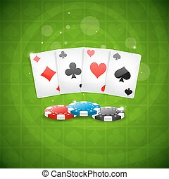Antecedentes jugando cartas y patatas