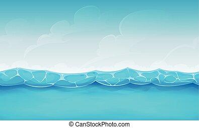 Antecedentes marinos del océano de verano para el juego de Uui