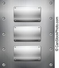 Antecedentes metálicos y placas