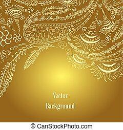 Antecedentes. Ornamento dibujado a mano. Ilustración de vectores.