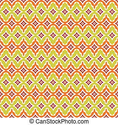 Antecedentes retro sin costura en el patrón moderno de la ikat