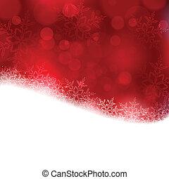 Antecedentes rojos de Navidad con luces borrosas