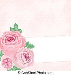 Antecedentes rosados con rosas