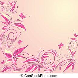 Antecedentes rosas florales