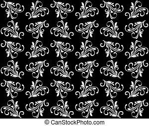 Antecedentes sin fisuras con patrones florales