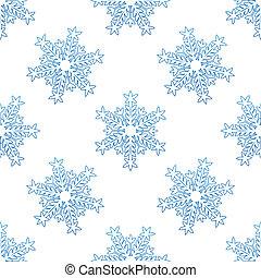 Antecedentes sin fondo con copos de nieve azules
