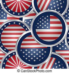 Antecedentes sin sentido con botones de la bandera americana