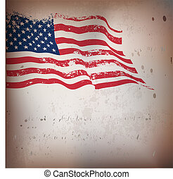 Antecedentes texturados de la bandera americana.