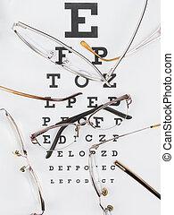anteojos, close-up., óptica, terreno, mapa