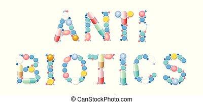 Antibióticos, medicina para las píldoras
