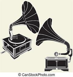 antigüedad, gramófono