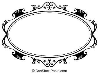 antigüedad, marco oval