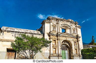 antigua guatemala, santa, ruinas, iglesia, teresa
