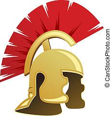 Antiguo casco guerrero
