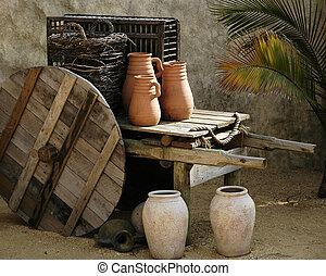 antiguo, escena doméstica