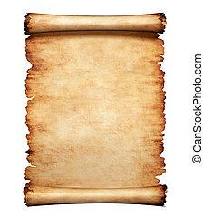 Antiguo fondo de letras de pergamino