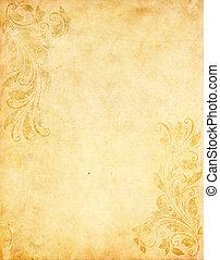 Antiguo fondo de papel grunge con estilo victoriano clásico
