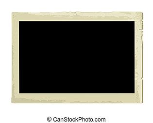 Antiguo marco de foto (illustración)