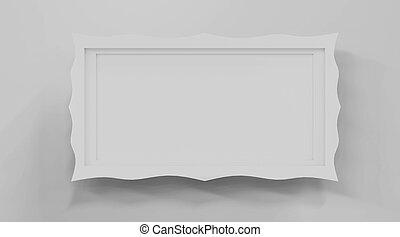 antiguo, posición, ilustración, imagen, plano de fondo, marco, 3d, render, blanco, aislado, suelo, viejo