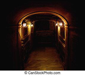 antiguo, sótano