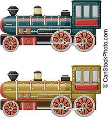 Antiguo vector de juguetes antiguos dos motores