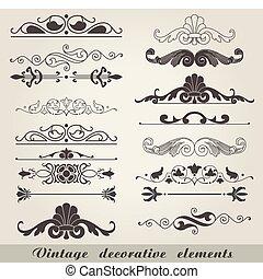 Antiguos elementos decorativos