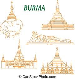 Antiguos templos budistas de Birmania
