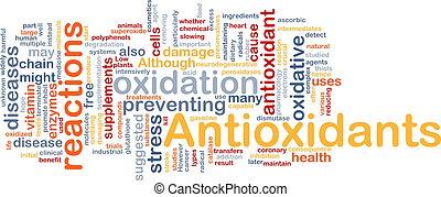 Antioxidantes concepto de fondo médico
