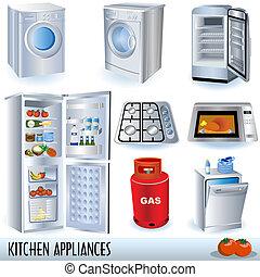 aparatos, cocina