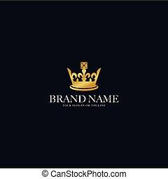 apariencia el diseño, logotipo, corona oro, vector