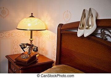 Apartamento de lujo interior, habitación cómoda