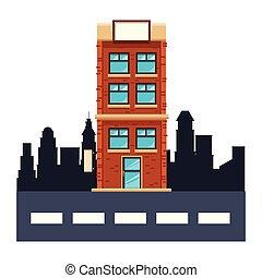 Apartamentos construyendo dibujos animados
