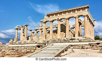aphaea, templo, grecia, aegina