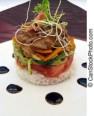 Apilador de comida gourmet