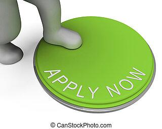 Aplica ahora boton muestra reclutamiento para el empleo