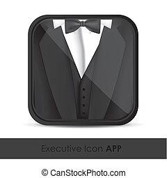 aplicación, icono, ejecutivos