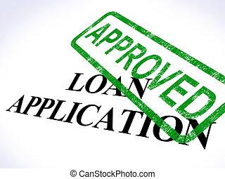 aplicación, préstamo, acuerdo, credito, aprobado, exposiciones